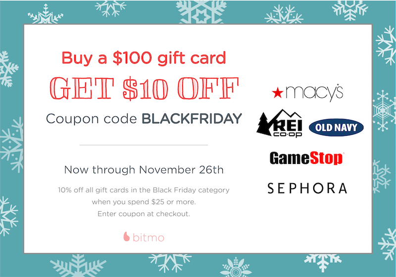 Black Friday Sale | Take 10% Off Select Gift Cards
